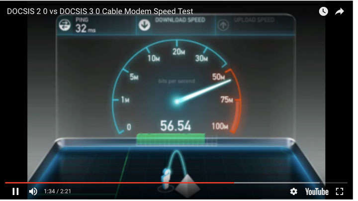 DOCSIS 2.0 vs DOCSIS 3.0 Cable Modem Speed Test